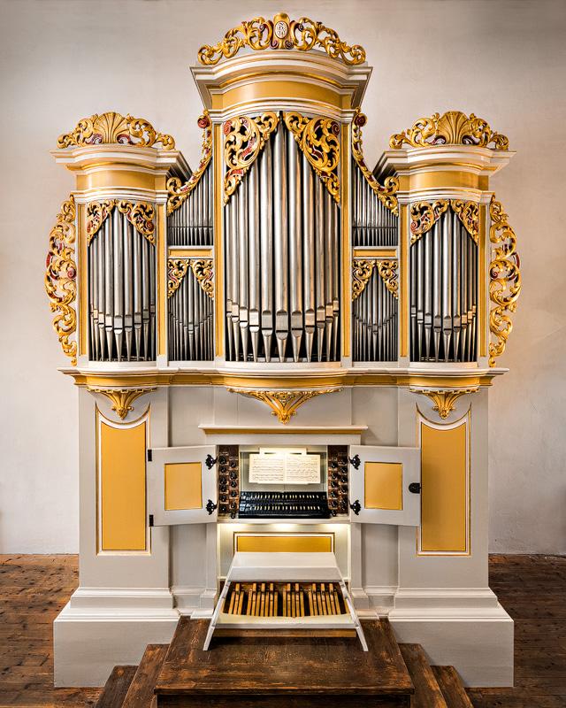 Die Silbermannorgel in der Kirche von Crostau