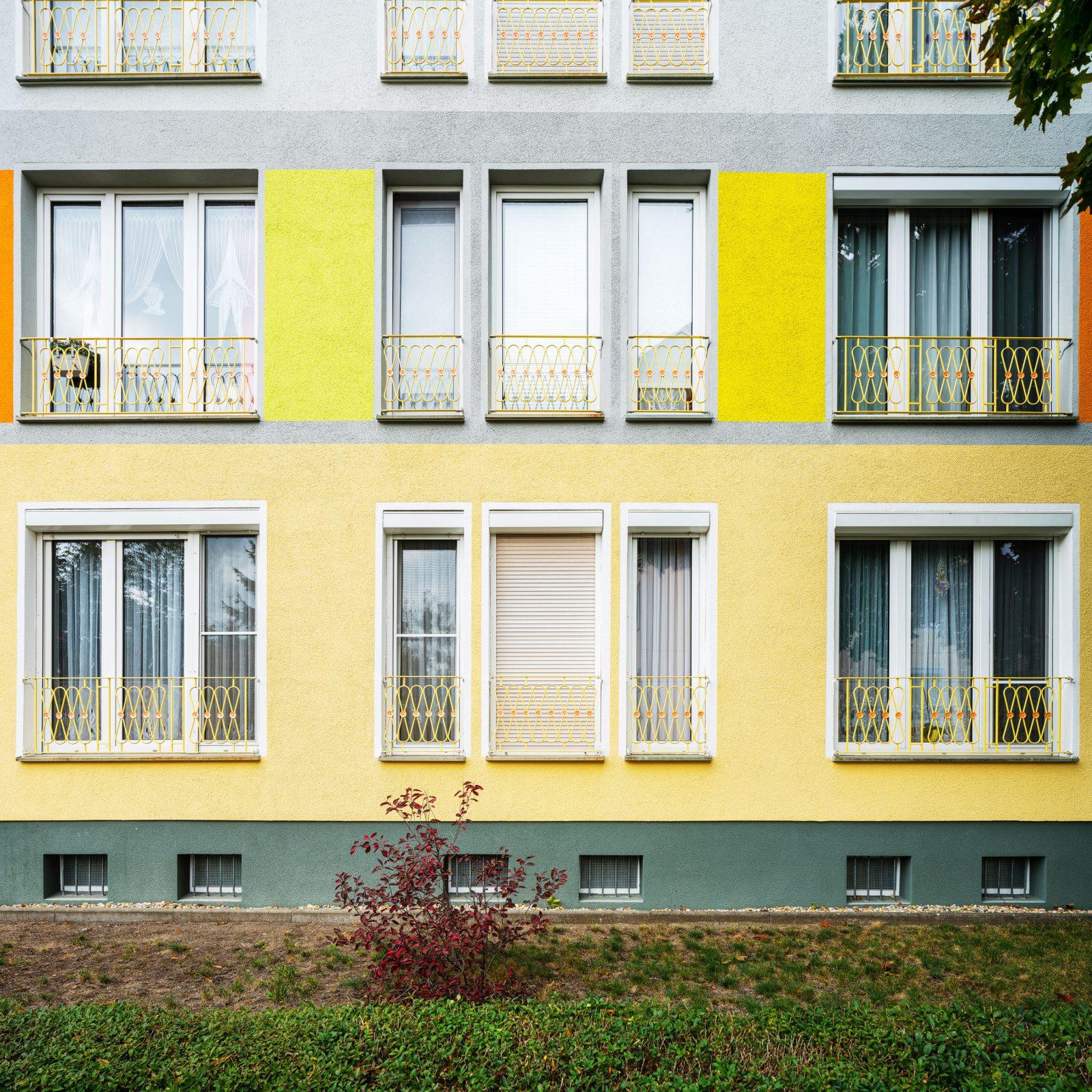 Fassade mit französischen Fenster, Hoyerswerda